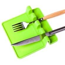Термостойкая ложка, лопатка, посуда, ложка, вилка, коврик для кухни, подставка под горячее, силиконовые аксессуары