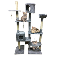 167cm Cat S Tree Tower Activity Centres Pets Play Tree Funny Scratching Post Climbing Jumping Toy