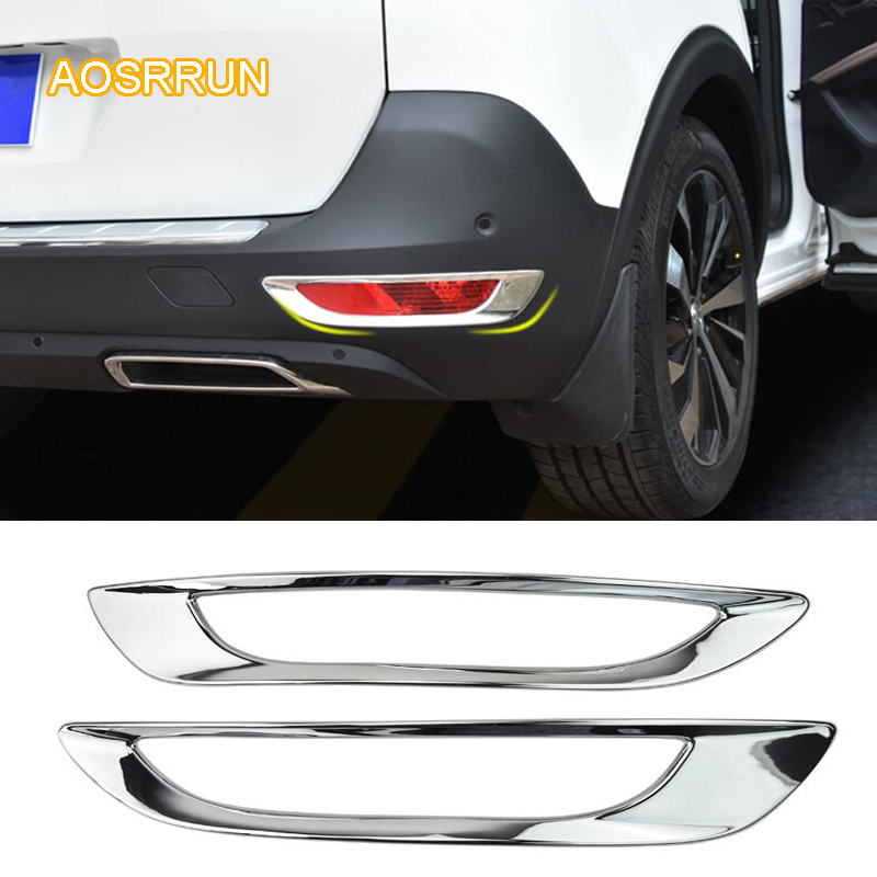 AOSRRUN ABS is decorated with fog lamp after the use of the fog lamp cover Car accessories FOR Peugeot 5008 2017 2018