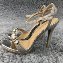 Women Stiletto Thin High Heel Sandal Sexy Ankle Strap Open Toe Silver Glitter Crystal Wedding Party Bridals Lady Shoe 0640ASL-a6