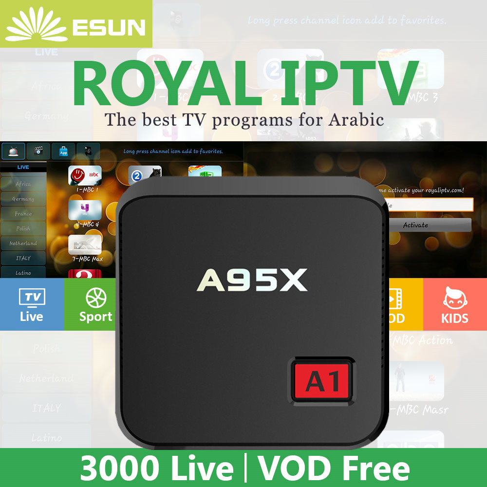 New Arrivals NEXBOX A95X A1 With 1 Year RoyalTV Configured Arabic/Europe IPTV VOD Set Top Box media player italy iptv a95x pro voice control with 1 year box 2g 16g italy iptv epg 4000 live vod configured europe albania ex yu xxx