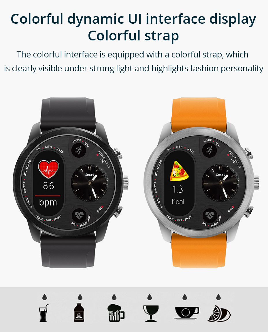 COLMI T3 Sport Hybrid Smart watch Stainless Steel Fitness Activity Tracker IP68 Waterproof Standby 15 Days BRIM Smartwatch 1