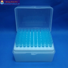 Пластиковая коробка для пипеток 60 вентиляционных отверстий+ 60 шт 1000ul синие наконечники для пипеток Dragonlab