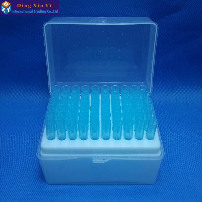 Plastic Pipette Box 60vents Box + 60pcs 1000ul Blue Pipette Tips For Dragonlab Pipettors