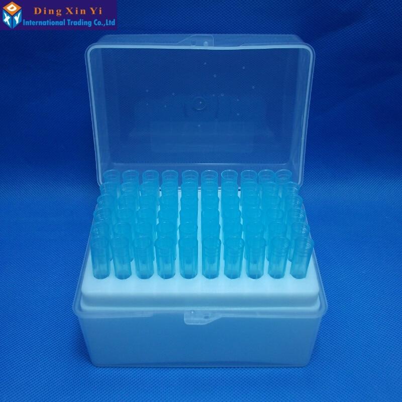 Plastic Pipette Box 60vents Box + 60pcs 1000ul Blue Pipette Tips For Dragonlab Pipettors