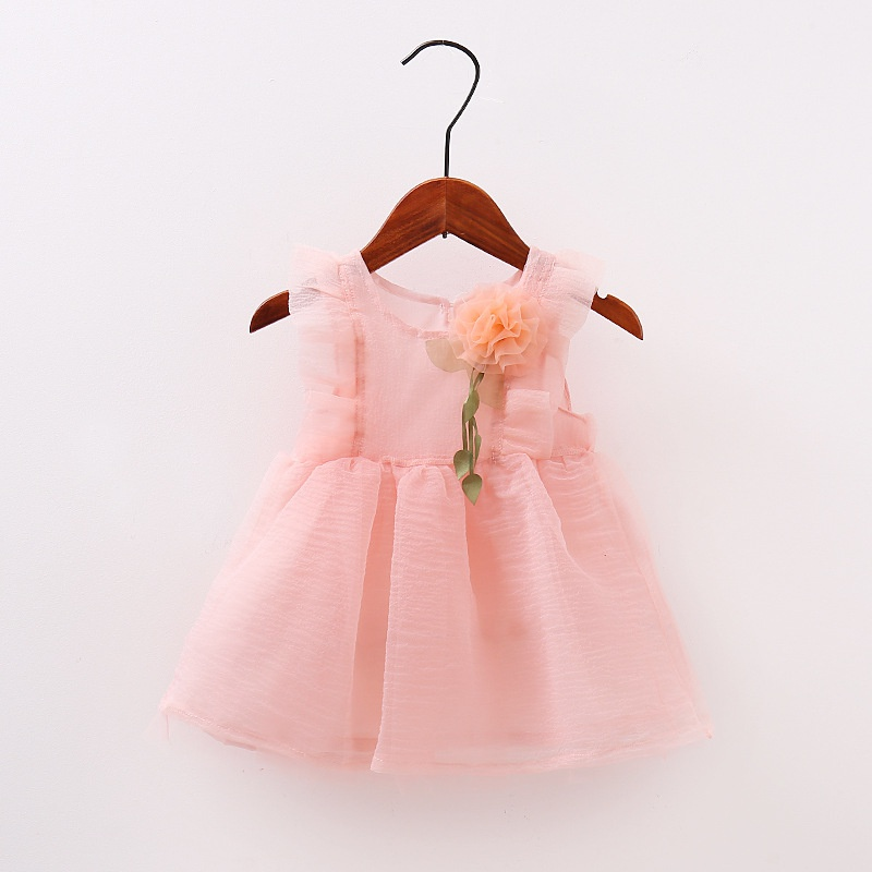 Summer Lovely Lolita Style  Baby Girls Dress Mesh Flower Dresses Toddler Girl Clothing Infant Party Princess Clothes 0-4Y summer 2017 new girl dress baby princess dresses flower girls dresses for party and wedding kids children clothing 4 6 8 10 year