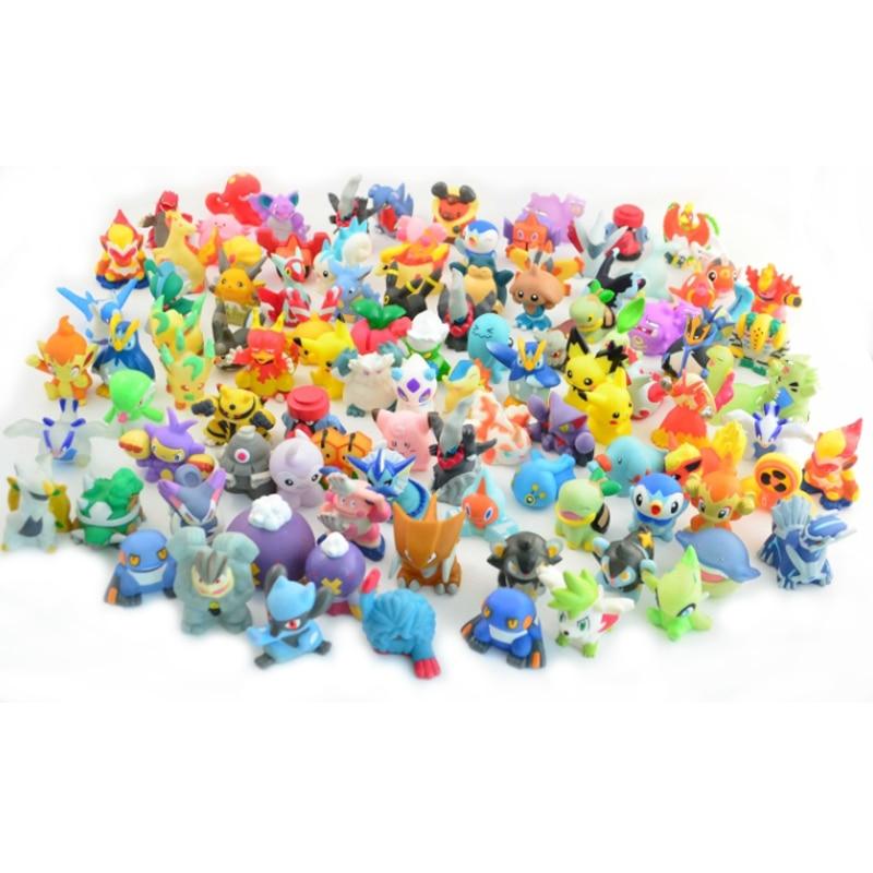 144pcs/set 2-3cm Pokeball Figures Cute Monster Mini Pikachu Figures Toys Random Brinquedos Collection Anime Kids Gifts Toys #E цена