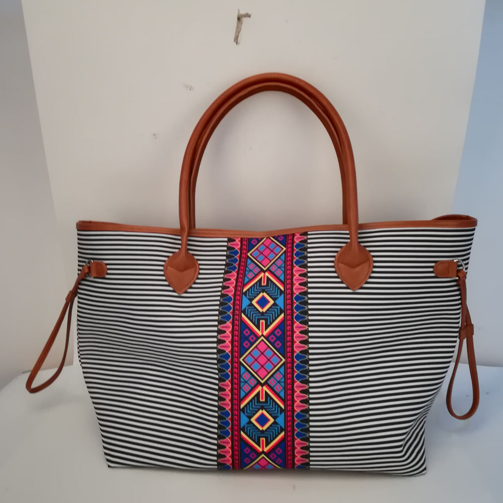 c556c120b Aztec Stripes Tote Wholesale Blanks Black Stripes Canvas Tote Endless  String Travel Tote DOM1061167-in Top-Handle Bags from Luggage & Bags on  Aliexpress.com ...