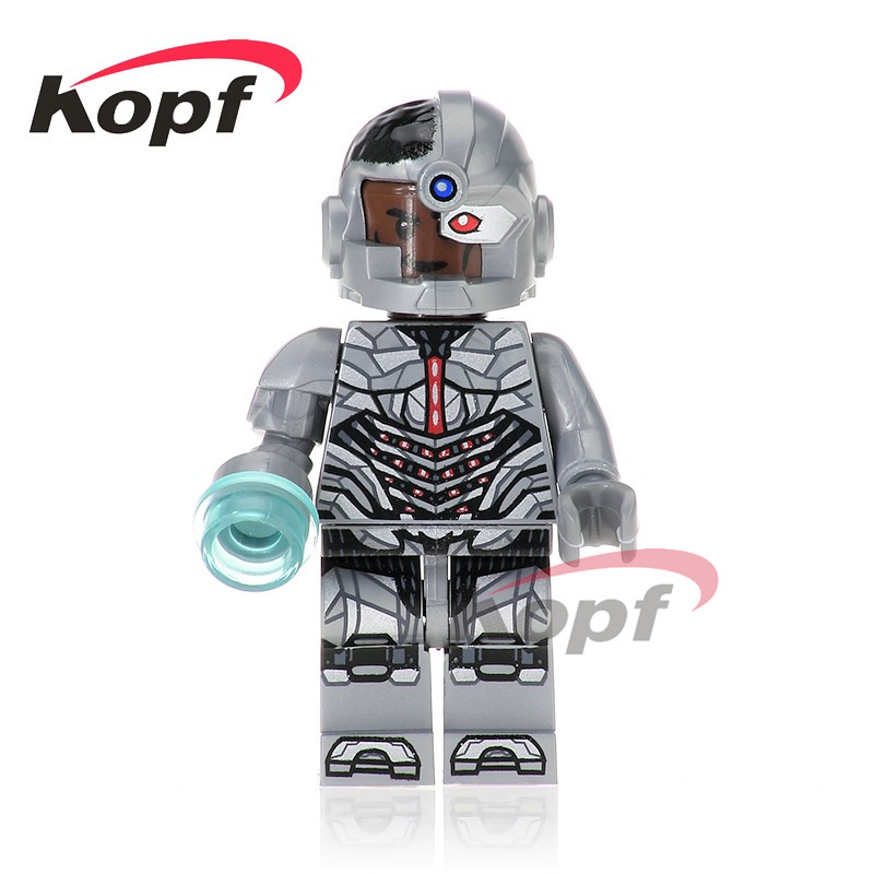Single Sale Super Heroes Cyborg Wonder Woman Batman Justice League Bricks Building Blocks Collection Toys for children XH 668 single sale super heroes nya gamma master wu gnea pythor kozu zane ninja 71019 building blocks bricks toys for children pg8070