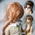 1/3 1/4BJD/DD doll wig double ponytail braid MDD/MSD/ giant baby