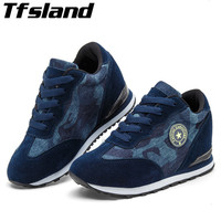 Tfsland Women Camouflage Wedge Breathable Shoes Female High Heel Desert Digital Running Shoes Military Sneakers Zapatillas