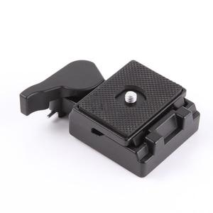 Image 5 - Placa de liberación rápida y adaptador de abrazadera para tripode Manfrotto monopod 200PL 14, cámara 323 RC2