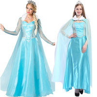 2019 Adult Halloween Anna Elsa Princess Dress Princess Elsa Costume Snow Queen Princess Cosplay Christmas Party Costume Women