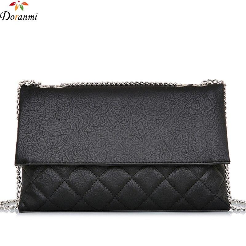 DORANMI Folding Thin Shoulder Bags Women's Bag 2019 Fashion Diamond Lattice Crossbody Messenger Clutch Bag Bolsos Mujer CBB140