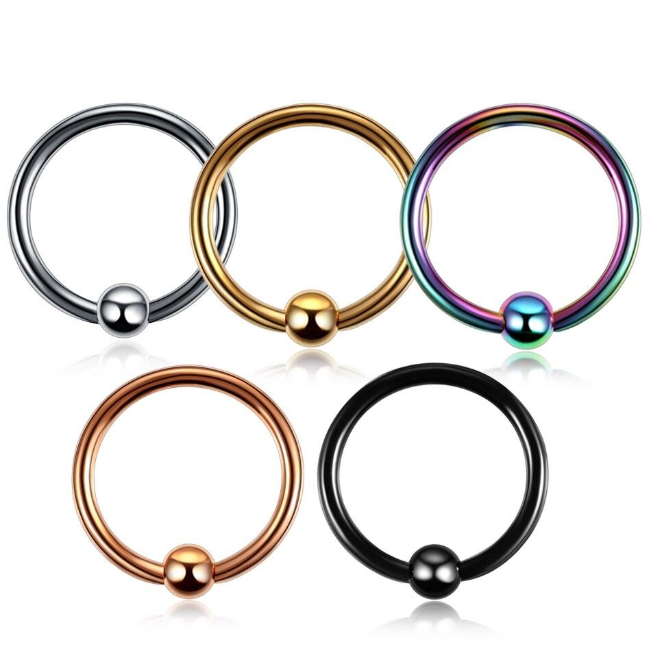 1 Pc Bunte Stahl Verschluss Perle Ring Lip Nase Septum Ringe Ohr Ringe Körper Piercing Nariz Schmuck Pirsing 3 Größen Verfügbar 100% Garantie