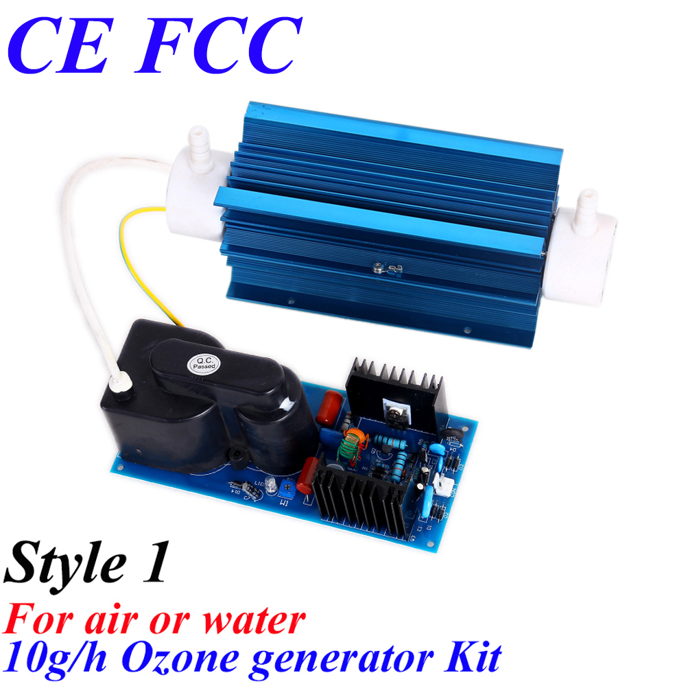 CE EMC LVD FCC Factory outlet BO-10QNAON 0-10g/h 10gram adjustable Quartz tube type ozone generator Kit for air or water pinuslongaeva ce emc lvd fcc factory outlet 500mg h 500g h adjustable ozone generator machine water air pump silicone tube
