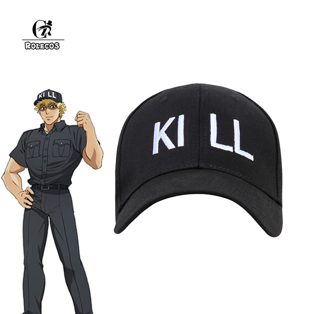 e821b6b59f0 ROLECOS Anime Cells At Work Cosplay Hat Regulatory T Cell Cosplay Cap  Hataraku Saibou Cosplay Sports Cap Men Baseball Black Hat