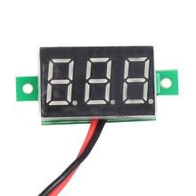 Mini DC 2.5-30V 1pc LCD digital voltmeter ammeter voltimetro Red LED Amp amperimetro Volt Meter Gauge voltage meter DC Wholesale