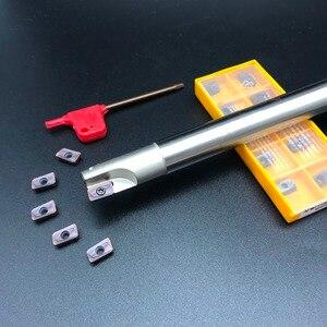 Image 2 - 10 pçs apmt1135 m2 + 1 pçs 16mm fresa 300r C16 16 150 2T duro cnc fresa ferramenta de carboneto inserção torno cortador