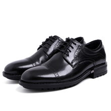 Business Black Mens Shoes Genuine Cow Leather Casual Comfortable Autumn Male Work Formal Lace-up Footwear JS-A0103