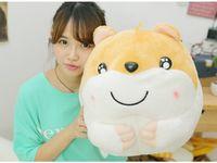 Piękny duży tłuszczu piękny żółty chomika chomik zabawka pluszowa doll prezent zabawka około 50 cm