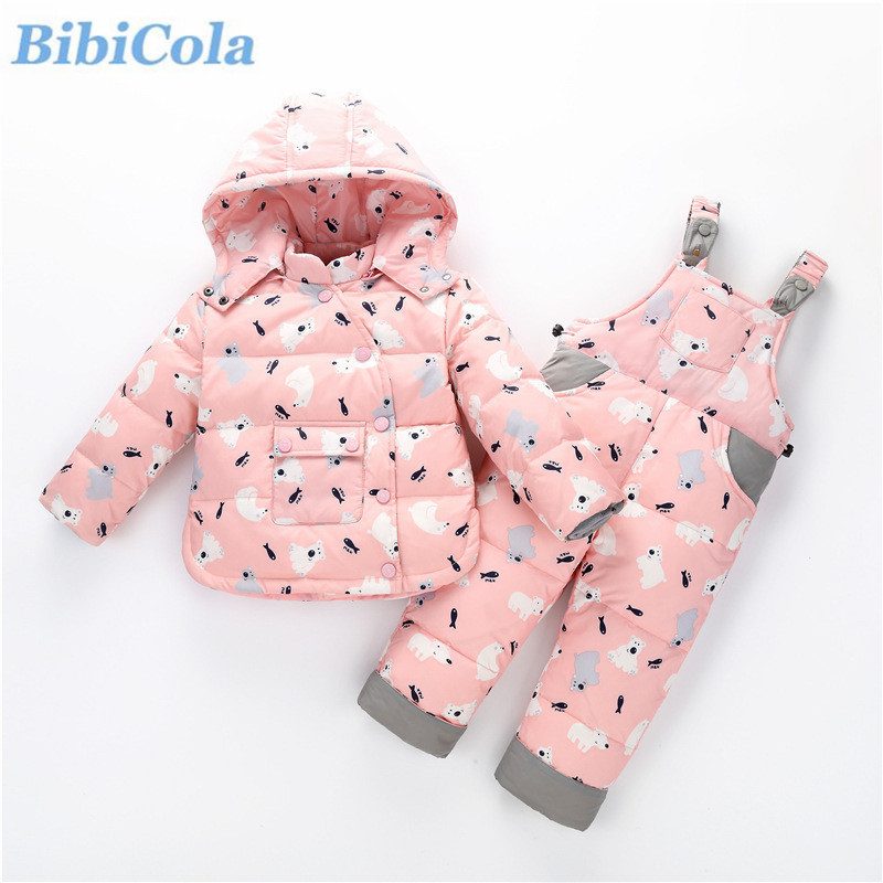 BibiCola Baby Girl Clothing Set Bebe Winter Children Clothes  Infant 2pcs Sport Warm Outfits Suit Toddler Tracksuit set bibicola baby boy clothing set bebe girl winter clothes infant 2pcs sport outfits children warm suit toddler tracksuit set