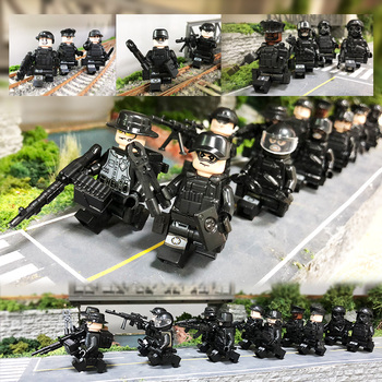 12Pcs/set sniper action figures military soldiers special forces Bricks Guns Weapons Compatible figure Armed SWAT Blocks Toys 12pcs set military wapen special armed forces soliders action figures gun toys building blocks compatible legoings for child