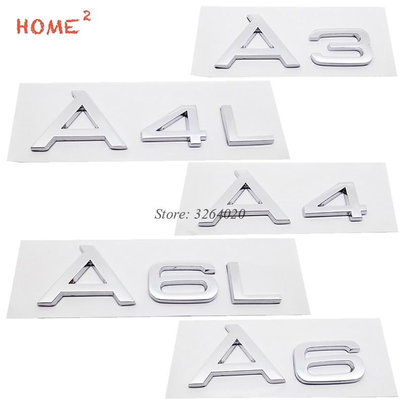 Car Styling Metal or Plastic Badge Stickers 3D Auto Emblem Decals Accessories for Audi A3 A4 A4L A6 A6L Q3 Q5 Q7 S3 Quattro B8 интеркулер audi a3 a4 a5 a6 a6l a4l q3 q5 1 8t 2 0t