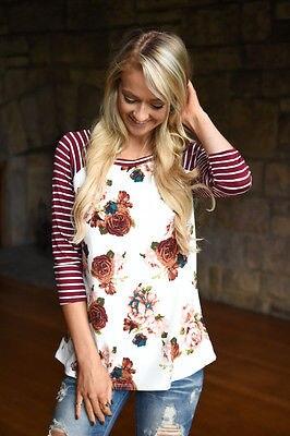 Stripe Top Women Short Sleeve Woman's Fashion 2017 Summer Women T shirt Floral Half Sleeve Striped Tee