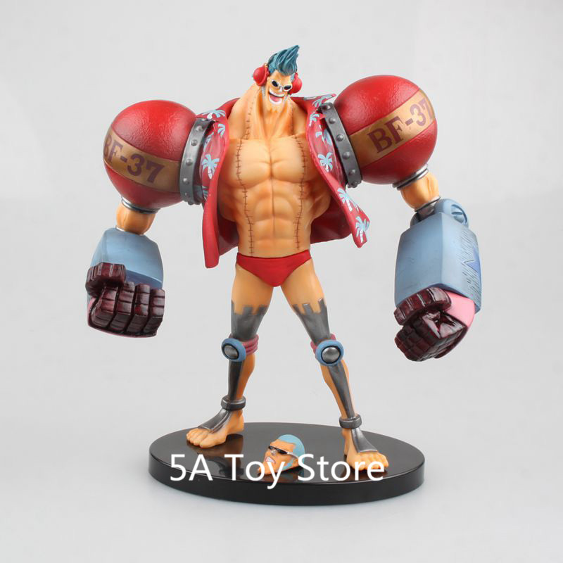Anime One Piece Franky Figure PVC Action Figure Collectible Model Toy Doll Gift Brinquedos 18CM overbearing arrogance law anime one piece pvc action figure classic collection model garage kit doll toy