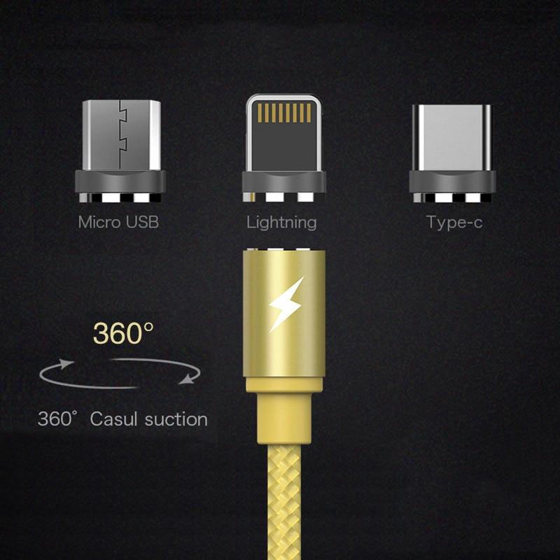 Magnétique usb câble chargeur fil portable 2.0A de charge pour téléphone adaptateur charge rapide 3.0 ayfony rapide moblie iphone 8 samsung S8