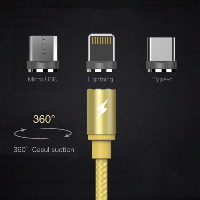 Magnetic usb cable charger wire portable 2.0A charging for phone adapter quick charge 3.0 ayfony fast moblie iphone 8 samsung S8