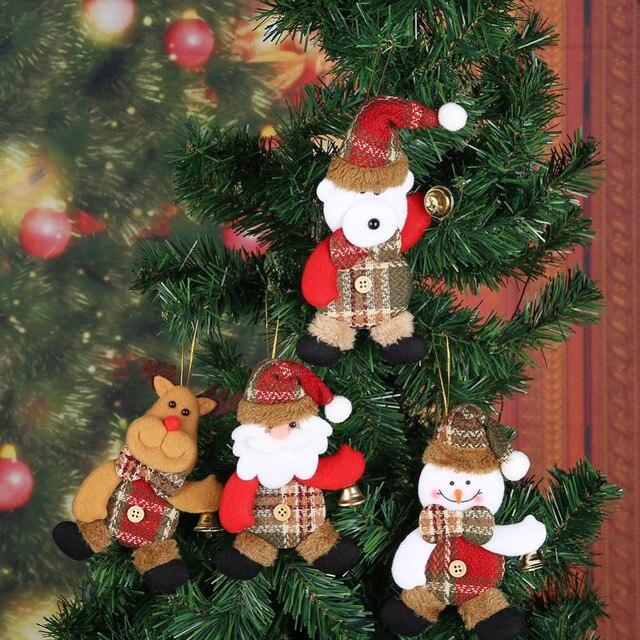 DIY Wooden Pendants Noel Bell Christmas Tree Decoration Hanging Ornaments Christmas Decorations for Home Natal Navidad 2018