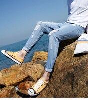Большая распродажа сезон: весна–лето джинсы утр Тонкий Бесплатная доставка Для мужчин; модные джинсы Для мужчин брюки одежда, новая модная