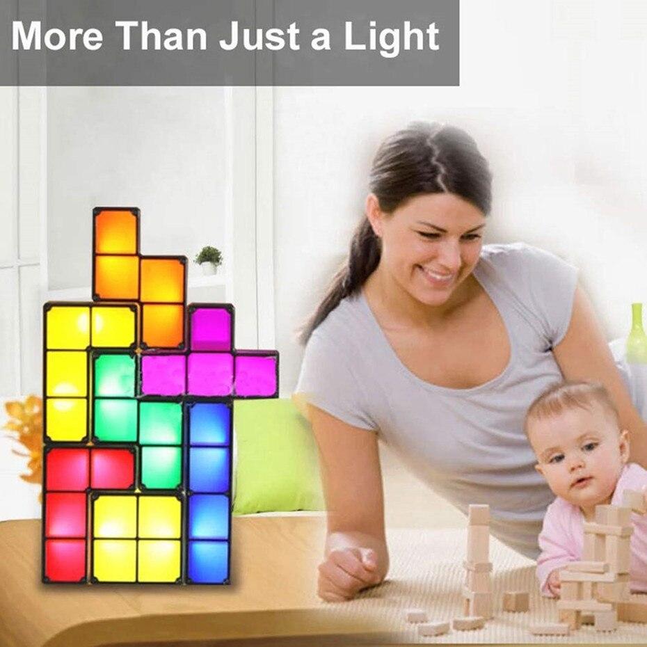 de mesa bloco constructible luz da noite