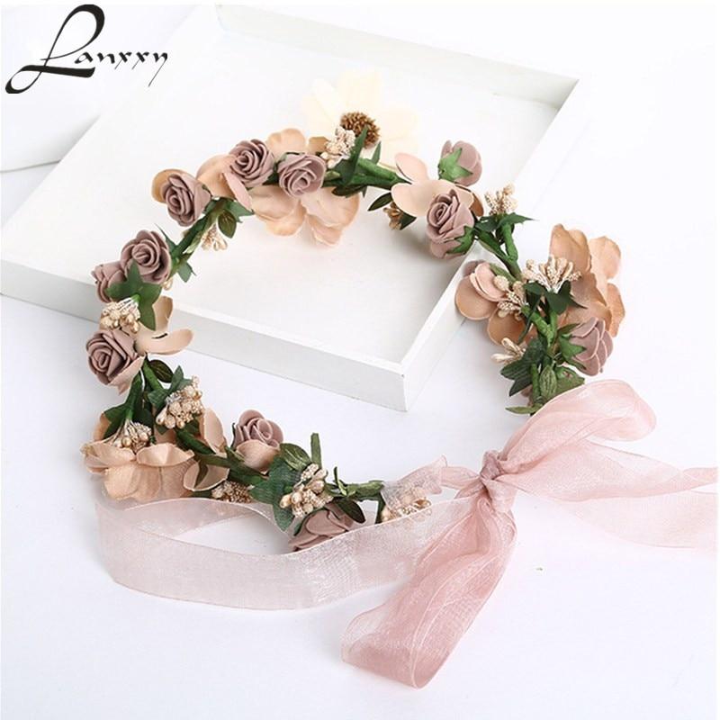 Lanxxy Hot Sale New 2016 Fashion Wedding Hair Accessories Hair bands Tiaras Flower Headband Women Crown Bridal Hairbands