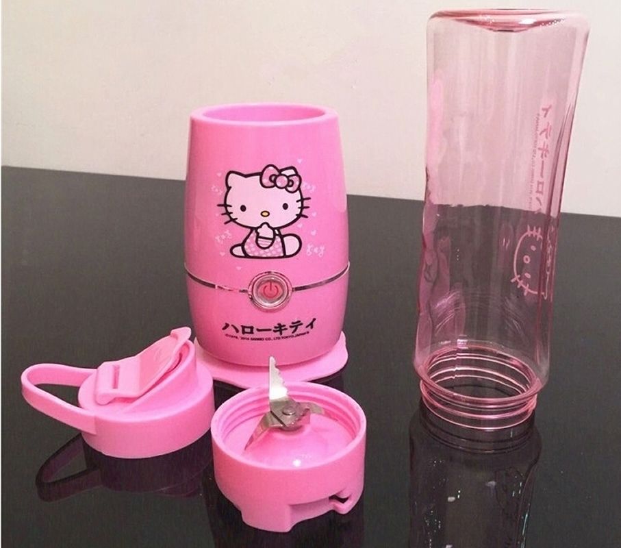 Cute Hello Kitty Healthy Fruit Soymilk Extractor Juicer Mixer Grinder Squeezer Machine Multifunction