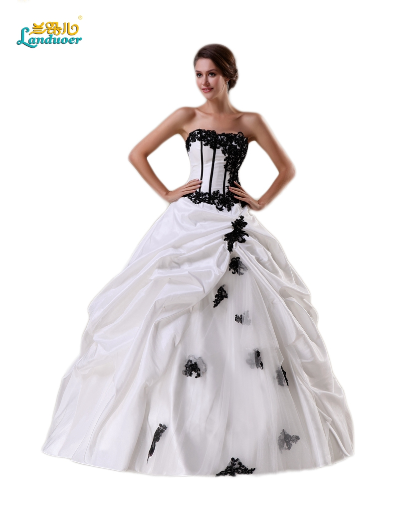 Buy vintage appliques white and black for Buy a wedding dress