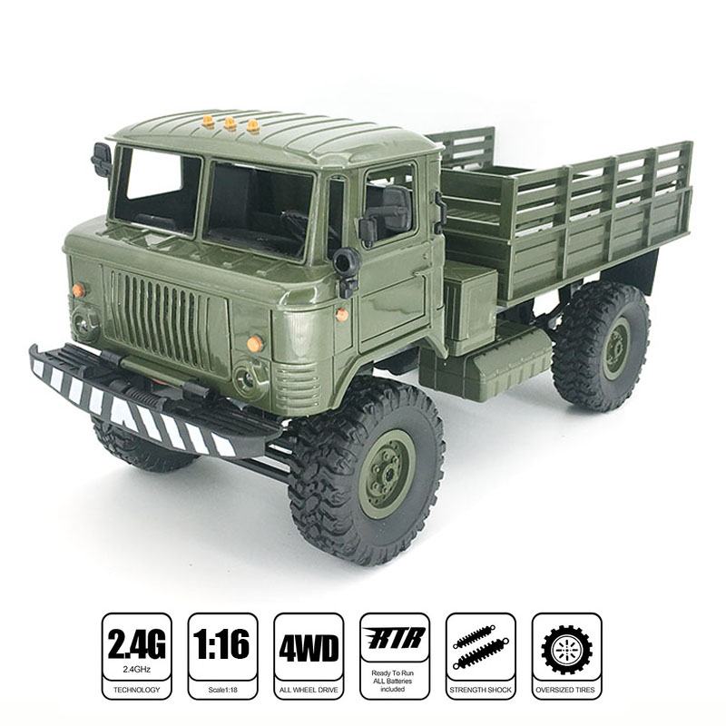 B-24 GAZ-66 1/16 Remote Control Military Truck 4 Wheel Drive Off-Road RC Car Model Remote Control Climbing Car RTR Gift Toy цена