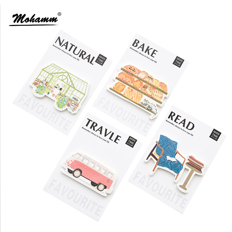 30 Sheets/lot Creative Comfortable Life Notebook Memo Pad Self-Adhesive Sticky Notes Office School Supplies Post It Memo Pad 200 sheets 2 boxes 2 sets vintage kraft paper cards notes filofax memo pads office supplies school office stationery papelaria