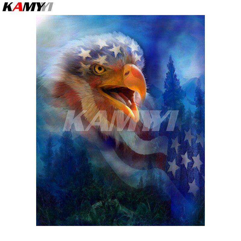5D DIY Diamond Painting EaglesCry_PWD Animal Needlework Home Decorative 3D Full Square Diamond Embroider NMX
