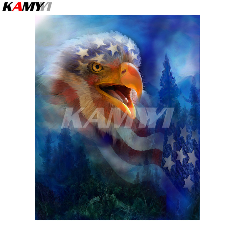 5D DIY Diamond Painting EaglesCry_PWD Animal Needlework Home Decorative 3D Full Square Diamond Embroider NMX