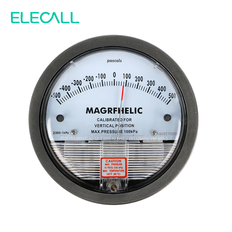 ELECALL New TE2000 -500~500PA Micro Differential Pressure Gauge High Precision 1/8