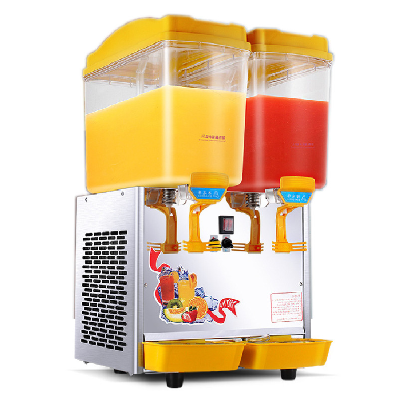 Double - Cylinder Beverage Juice Machine Automatic Cold Drinks Machine Double - Cylinder Mixing Hot And Cold Juice Dispenser