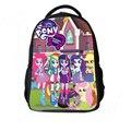 Мой Милый Маленький Миньон пони Пользовательские Печатные Плюшевые Рюкзак Сумка для Детей Equestria Девушки-Радуга Rockpattern