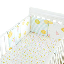 Breathable Baby Bed Bumpers 6pcs/set Crib Around Cushion Pad Cot Protector Pillows Newborn Baby Bedding Infant Safe Fence Line(China)