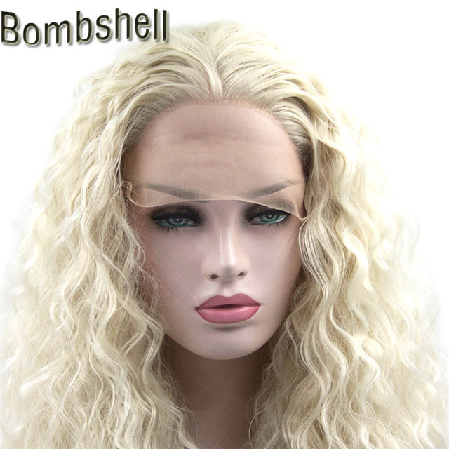 Bombshell Water Wave Heat Resistant Fiber Hair Synthetic Lace Front