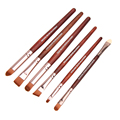 6pcs Professional Eye Makeup Brushes Set Eyeshadow Eyeliner Nose Smudge Make Up Brushes Tool Kit