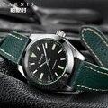 Модные 40 мм Parnis механические Автоматические Мужские часы сапфировое стекло повседневные кожаные Miyota 8215 мужские часы новое поступление 2019