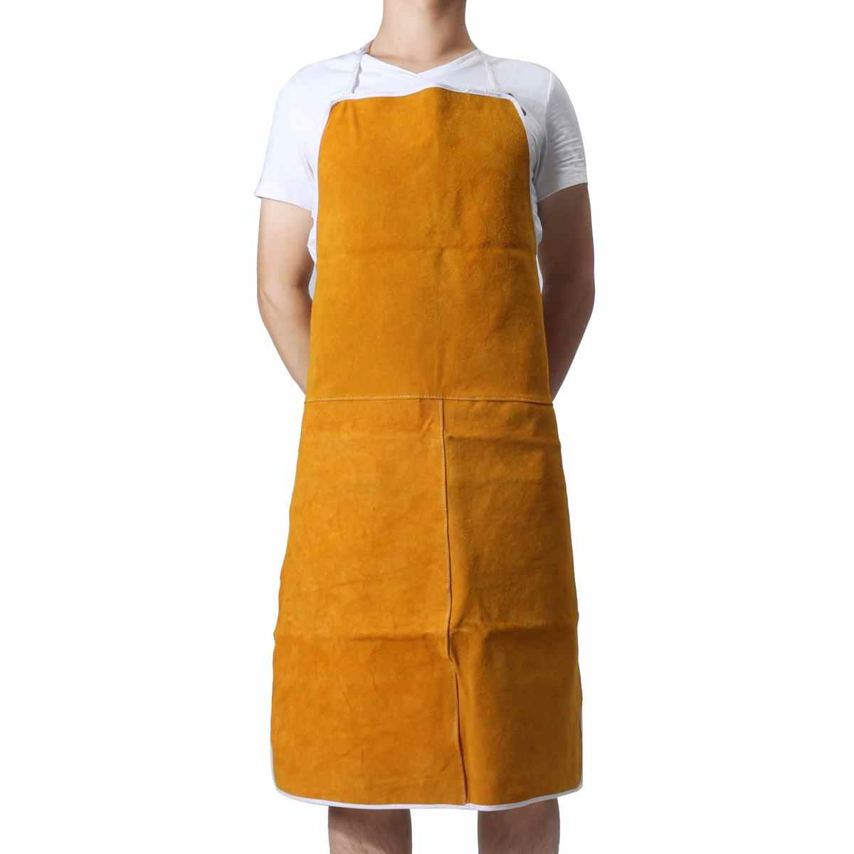 Free Shipping Cowhide Welding Welders Aprons Work Safety Workwear Glaziers Blacksmith Apron 93x64cm Safety Clothing